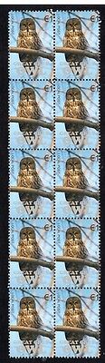 Great Grey Owl Strip Of 10 Mint Vignette Stamps 4