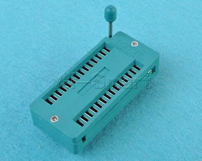 28-pin 28 Pins ZIF Test DIL ICs Universal IC Socket Insertion Wide Body Socket