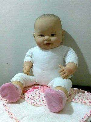 Gorgeous Cute Berenguer Asian 52cm Soft Bodied Doll with Vinyl Hands Head & Feet
