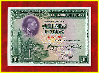 Billete de 500 pesetas 1928.   SC.-