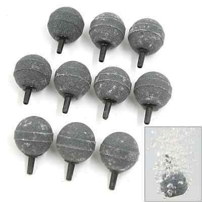 sourcingmap Fish Tank Accessories Decoration Air Stone 30mm Dia 10 Pieces