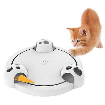 Easylifer Cat Interactive Toy Automatic Cat Teaser Rotating Pounce Hide Seek Mou