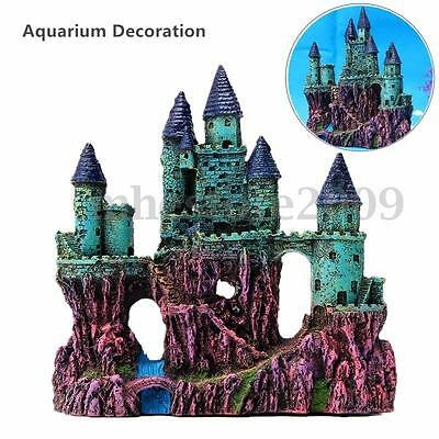 Resin Ancient Europe Castle View Aquarium Ornament  View Fish Tank Decoration