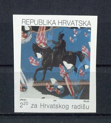 s11985) CROATIA MNH** 1991, Labour 1v  IMPERFORATED