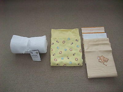 Mothercare Cellular Blanket + Baby Wraps & Bunny Rugs
