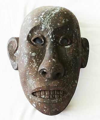 South East Asian Island Carved Heavy Wooden Mask (As)