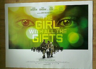 The Girl With All The Gifts Official Cinema Quad Poster