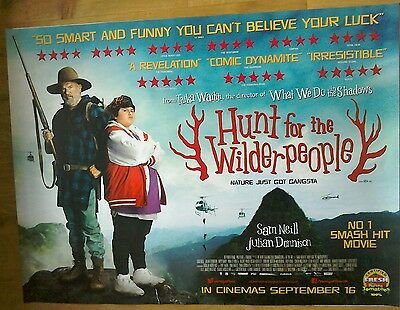 HUNT FOR THE WILDERPEOPLE Film Poster (original cinema quad)