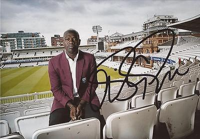 WEST INDIES: OTTIS GIBSON SIGNED 6x4 PORTRAIT PHOTO+COA