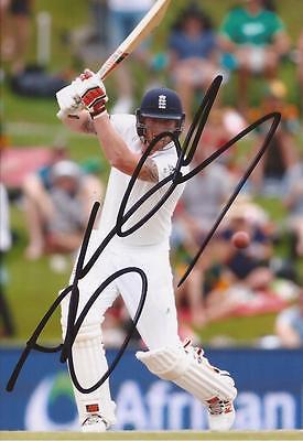 ENGLAND: BEN STOKES SIGNED 6x4 TEST ACTION PHOTO+COA
