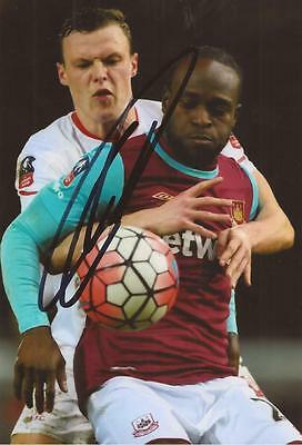 WEST HAM: VICTOR MOSES SIGNED 6x4 ACTION PHOTO+COA