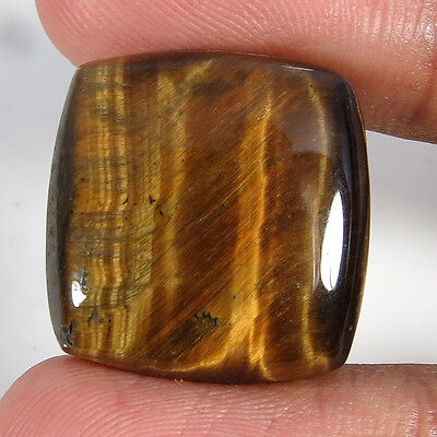 34.40CT Square Natural Cabochon Tiger Eye Loose Gemstone Aura.gems