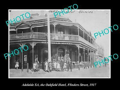 OLD LARGE HISTORIC PHOTO OF ADELAIDE SA, THE OAKFIELD HOTEL, FLINDERS ST c1917