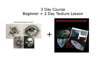 3 Day Course – Beginner & 2 Day Texture lesson 1 to 1