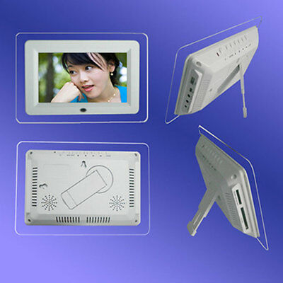 7'' inch HD TFT-LCD Digital Photo Frame Alarm Clock MP3/4 Player +Remote US
