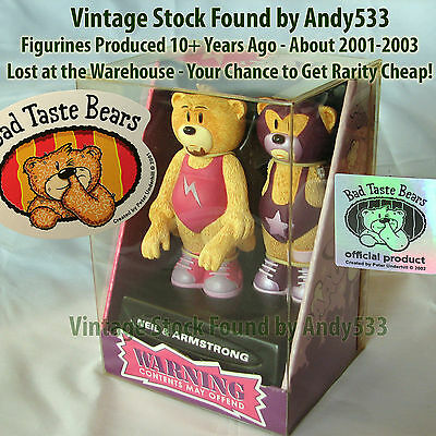 Bad Taste Bears MIB 90 Neil And Armstrong Vintage Out of Production Retired