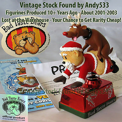 Bad Taste Bears MIB Xmas Prancer !!! Vintage Out of Production Retired