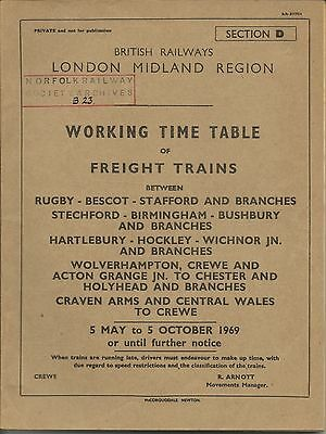 BR (LM) Section D WTT Freight: Rugby, Bescot, Stafford etc., May 1968, vg