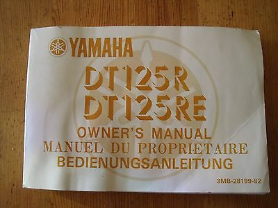 Yamaha Dt125R/re Owners Manual
