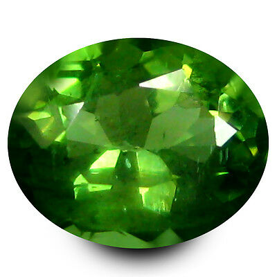 0.81 ct Eye-opening Oval Cut (6 x 5 mm) Un-Heated Green Apatite Natural Gemstone