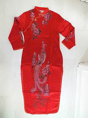 Chinese Dragon Phoenix Qipao Red New Year Party Dress Uk 10 12 Us 6 Eu 36 38 Xl