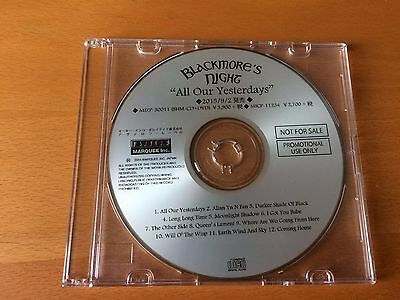 Japan Cd Blackmore's Night All Our Yesterdays Mizp-30011 Promo Only Rainbow