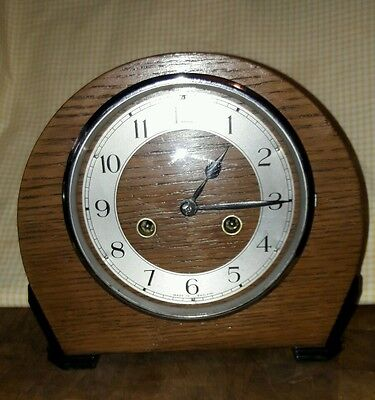 SMITHS ENFIELD 2KEY STRIKING MANTLE CLOCK+ PENDULUM AND KEY IN EX.W.O sma1