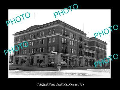 OLD LARGE HISTORIC PHOTO OF GOLDFIELD NEVADA, THE GOLDFIELD HOTEL c1934