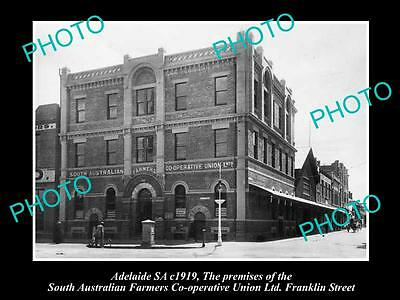 OLD HISTORIC PHOTO OF THE SOUTH AUSTRALIAN FARMERS UNION BUILDING, c1919