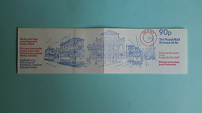 "FG7B Derby, Tramway Museum Crich, 90p Folded Stamp Booklet, ""Dec 1978"
