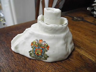 Crested ware Arcadian China Launceston Castle ( Cornwall) Very rare item !