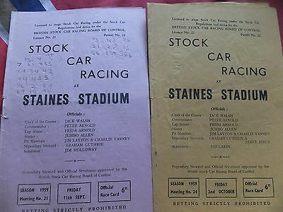 Staines 1959 programmes x 2