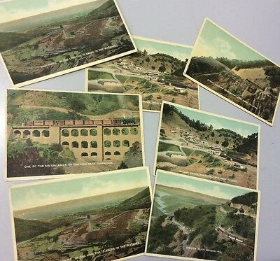 Old RAILWAY PHOTO POST CARDS. FROM INDIA