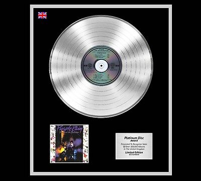 PRINCE Ltd Edition CD Platinum Disc Record PURPLE RAIN