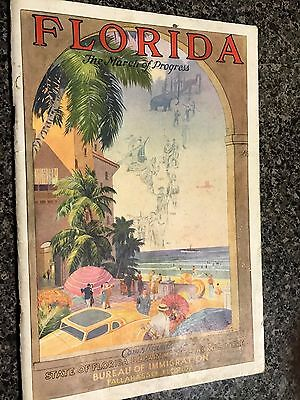 Florida map and motoring guide 1932