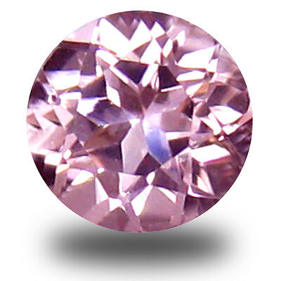 0.13 ct Awe-inspiring Round Cut (3 x 3 mm) Pink Color Morganite Gemstone