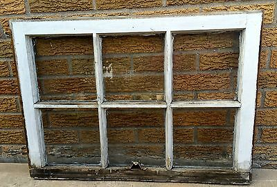 6 Pane Window Shabby Chippy Architectural Salvage Vintage