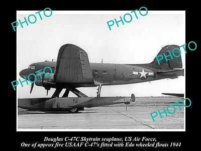 Old Large Historic Aviation Photo Of Douglas Skytrain Seaplane Us Air Force 1944