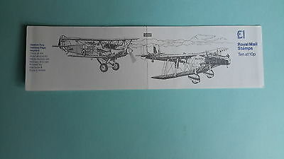 "FH3A Military Aircraft Series, Hawker fury,  £1 Folded Booklet, ""May 1980"""