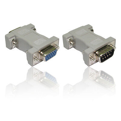 VGA Adapter DB9 Male to HD15 Pin Female Adapter Converter