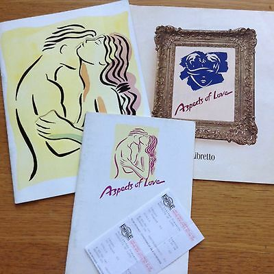 Aspects Of Love Souvenir Brochure, Programme, Libretto and Two Used Tickets