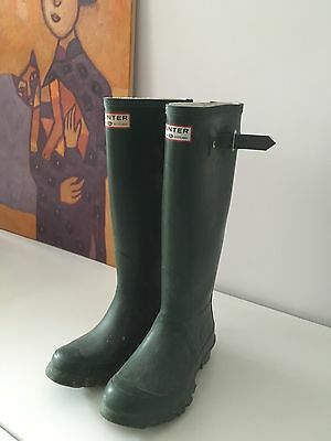 Hardly Worn Genuine Hunter Wellington Boots Size UK 2 EU 35 - Must Sell!