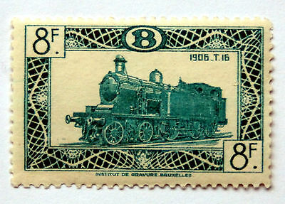 Trains, LHM 8f From The Belgium 1949 Locomotive Railway Parcels Issue.
