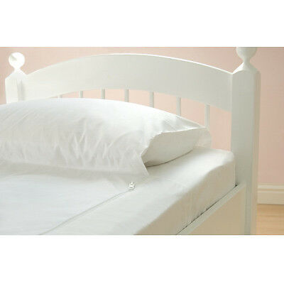 Baby Cot Fitted Sheet Single Bed Toddler Replacement Spare GRO-TO-BED White