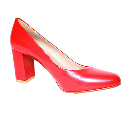 Upper Class Court shoes leather red