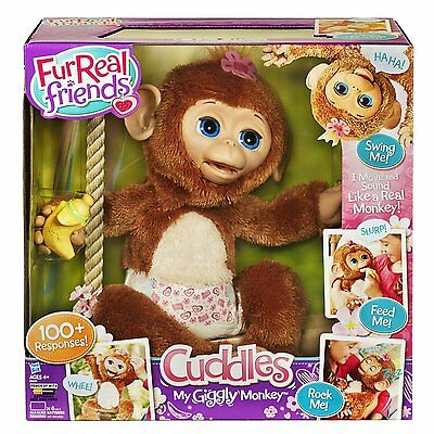 FurReal Friends Cuddles My Giggly Monkey 100+ Responses Giggles & Wiggles NEW