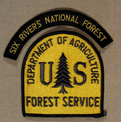 Vintage US Forest Service Arm Patch + Six Rivers- Firefighting 1960's & 1970's