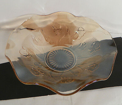 Jeannette Depression Glass Iris and Herringbone Large Fruit Centerpiece Bowl