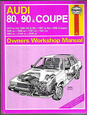 Audi 80 90 & Coupe 4 & 5 cyl 1979-1988 Haynes Owners Workshop Manual 1989