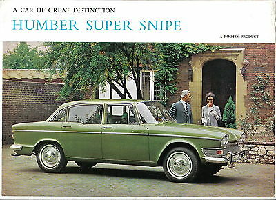 Humber Super Snipe Series V Original UK Sales Brochure No. 1223/H 1965